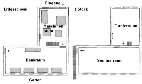 Tischlerei werkstatt grundriss  Tischlereimuseum Friedrichstadt